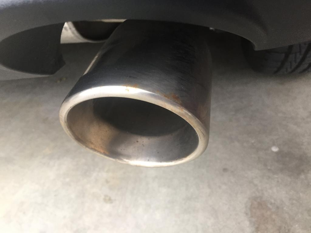 Rust On Exhaust Tips Rust On Exhaust Tips  Ford Edge