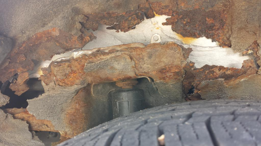 how to fix wheel well rust