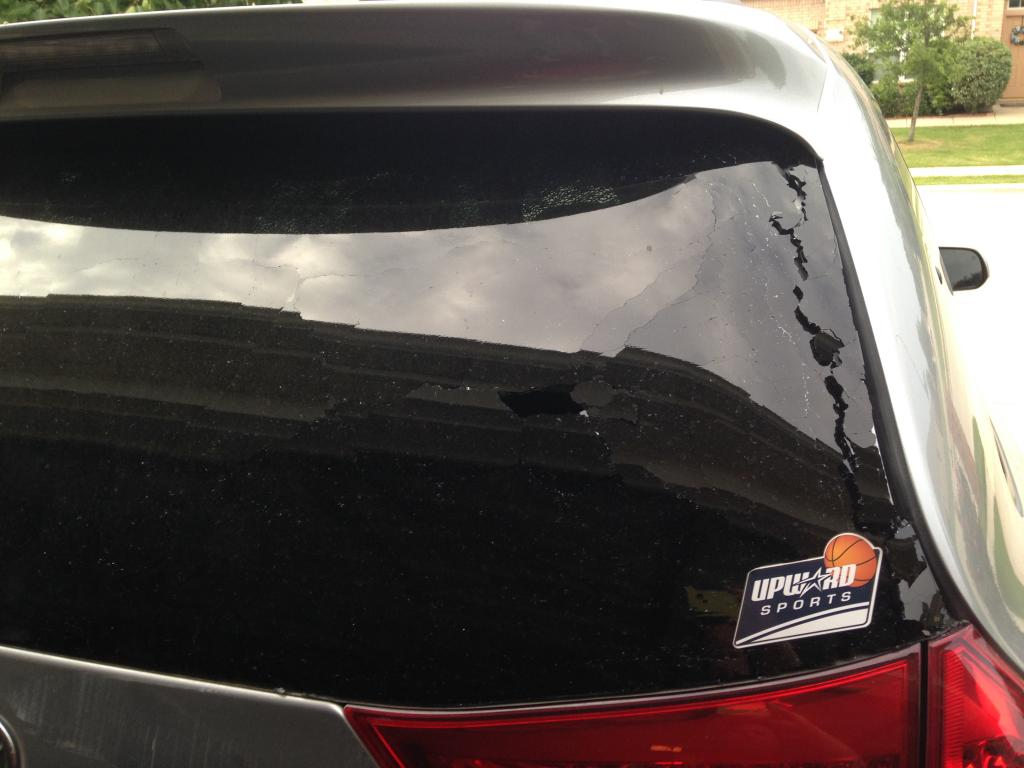 2013 Toyota Sienna Rear Window Exploded Outward 2 Complaints