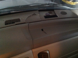 cracked dashboard