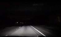 auto-level headlights point down