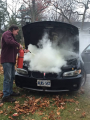 engine compartment fire