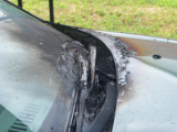 windowshield wiper motor caught on fire