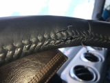 steering wheel frayed & split