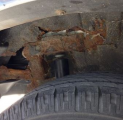 excessive rust in wheel wells