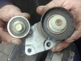 idler pulley broke in half