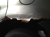 rust on rear fender