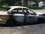 car caught fire