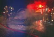fire destroyed vehicle