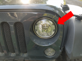 loose headlight