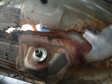 excessive wheel well/shock tower rust
