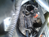 spark plug discharge from head-threads gone