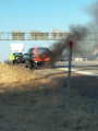 engine caught fire while driving