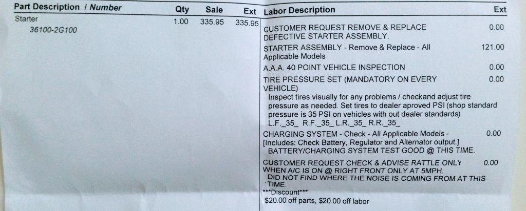 2011 Hyundai Sonata Need A New Starter: 15 Complaints