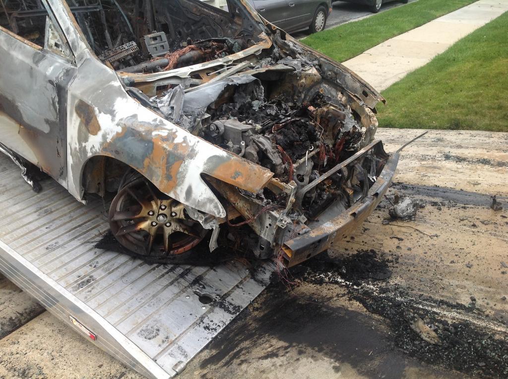 2009 Nissan Maxima Electrical Fire: 1 Complaints