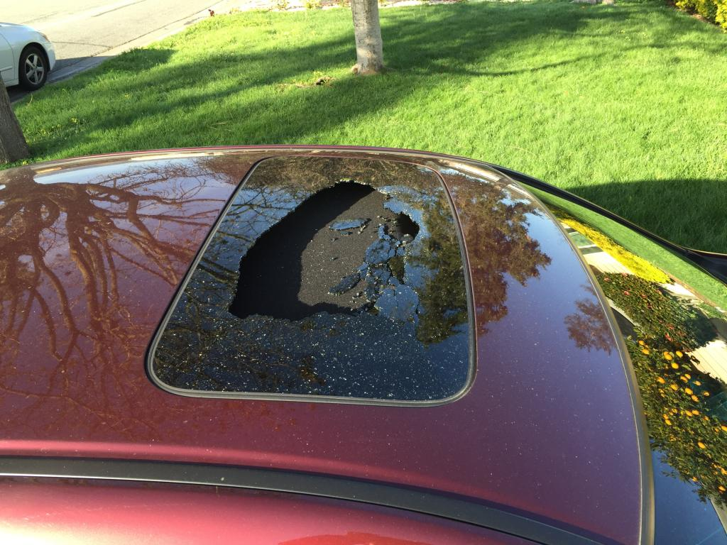 honda accord sunroof exploded  complaints
