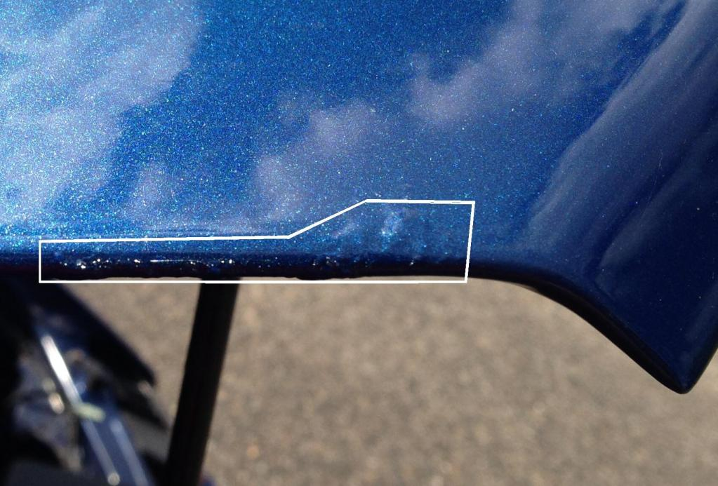 2009 Ford Mustang Paint Is Peeling Off The Underside Of