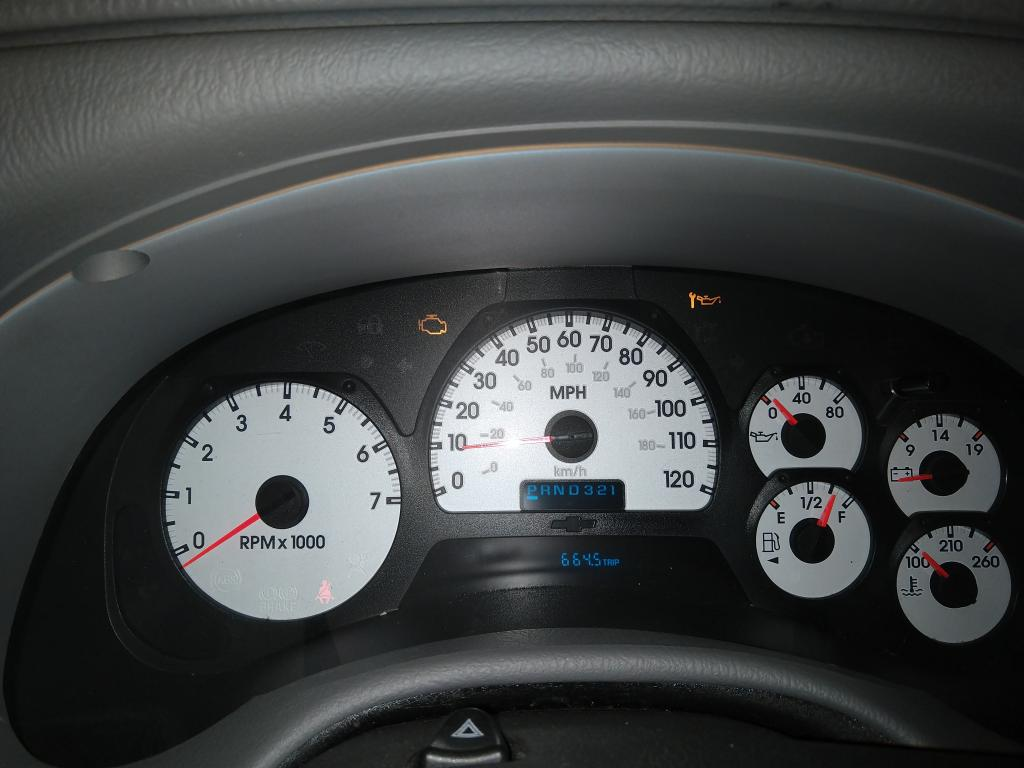 2005 Chevrolet Trailblazer Instrument Panel Malfunctioning