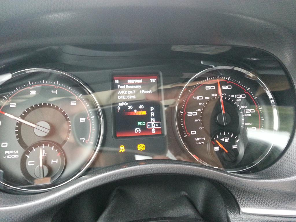 2012 Dodge Charger Brake Light-Abs & Trac Control Failure