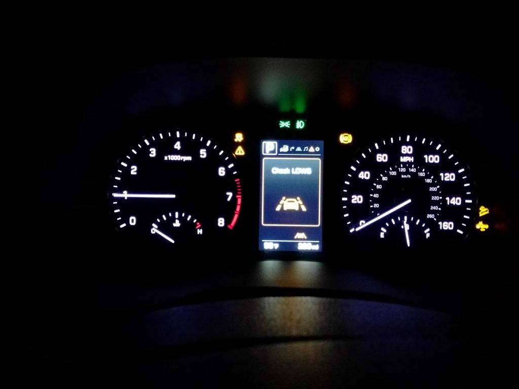 Dash warning lights on on hyundai santa fe light