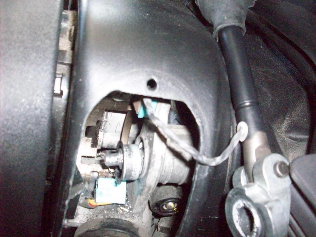 Steering column broke in half