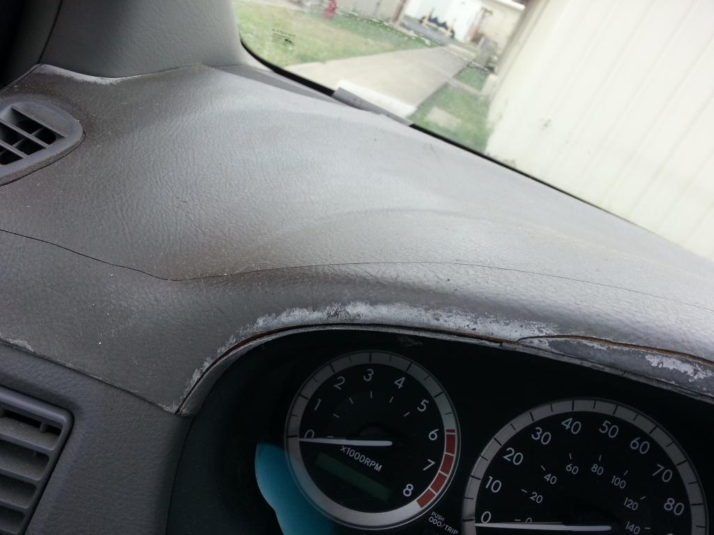 2004 toyota sienna dashboard cracking 35 complaints - 1998 toyota camry interior parts ...
