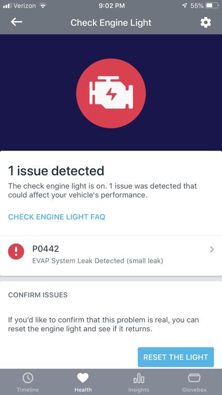 2018 Volvo S90 Check Engine Light Is On: 1 Complaints
