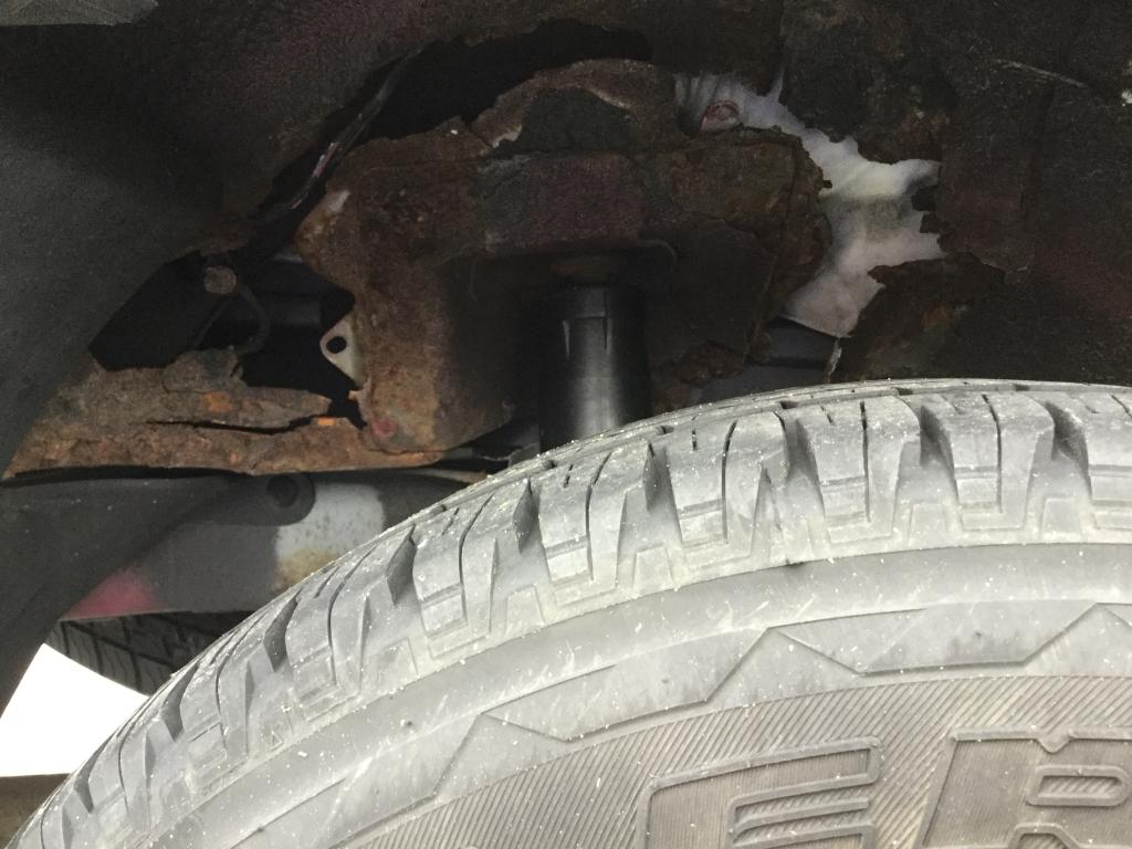 2005 Mazda Tribute Wheel Well Area Completely Rusted Out 25 Complaints Photos Drum Brake Component Part Diagram Car Parts