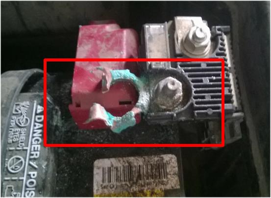 2007 Nissan Altima Positive Battery Terminal Failure: 1 ...