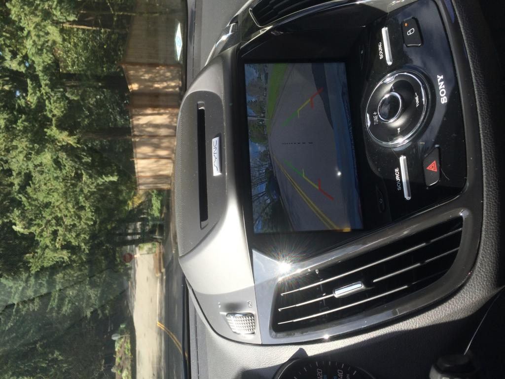 2016 ford escape rear camera does not turn off while. Black Bedroom Furniture Sets. Home Design Ideas
