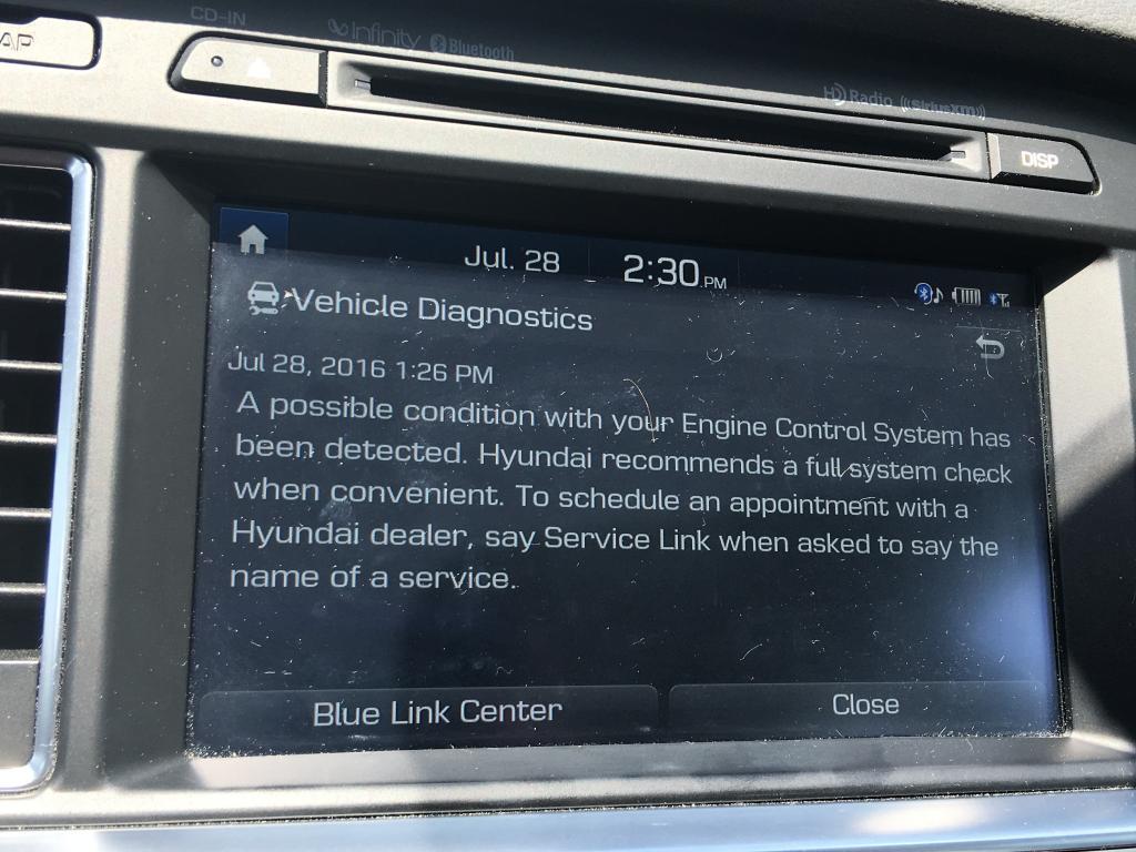 2015 Hyundai Sonata Engine Stalls/Shuts Down While Driving