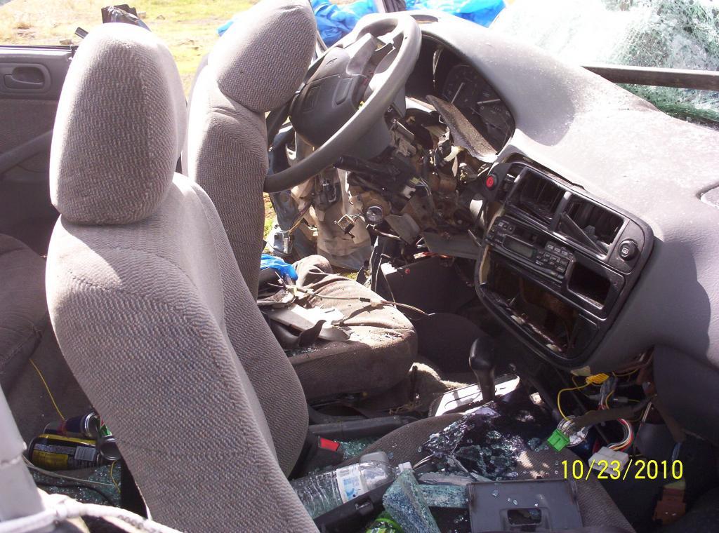 honda civic driver airbag   deploy  passenger   accident  complaints