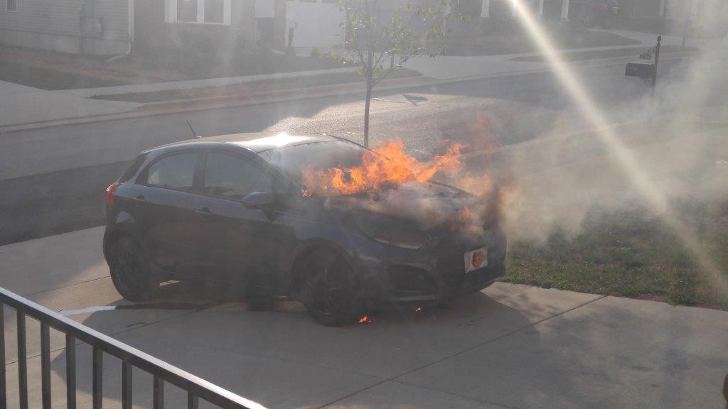 2013 Kia Rio Engine Fire 1 Complaints