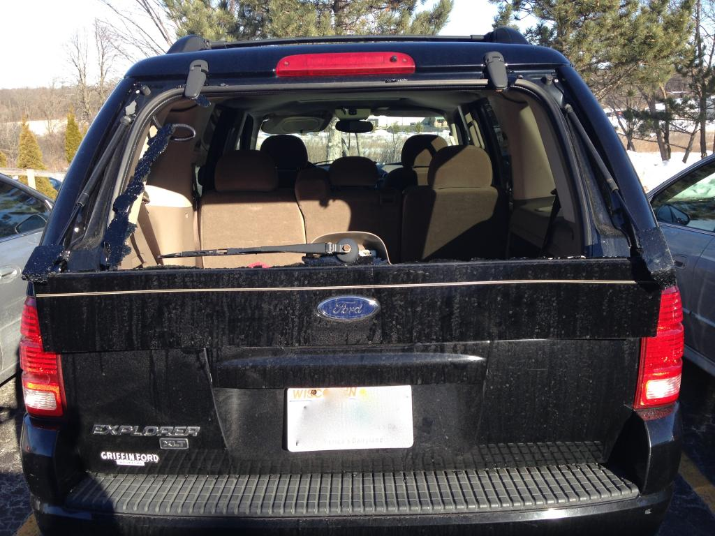 2004 Ford Explorer Cracked Panel Below The Rear Window