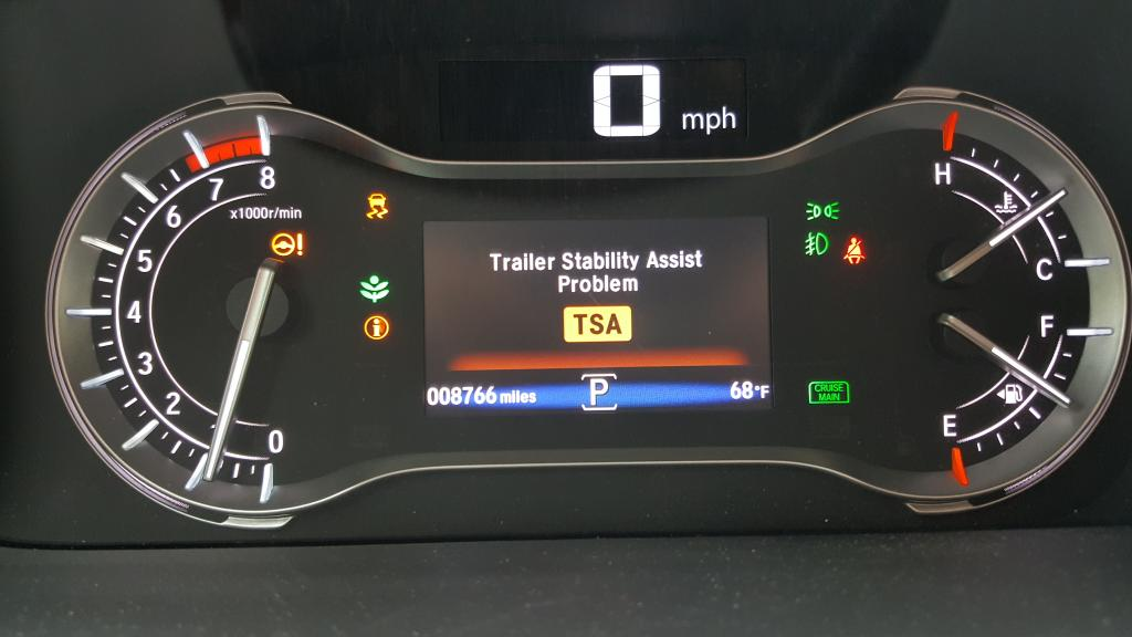 2016 Honda Pilot Trailer Stability Assist Not Working 2