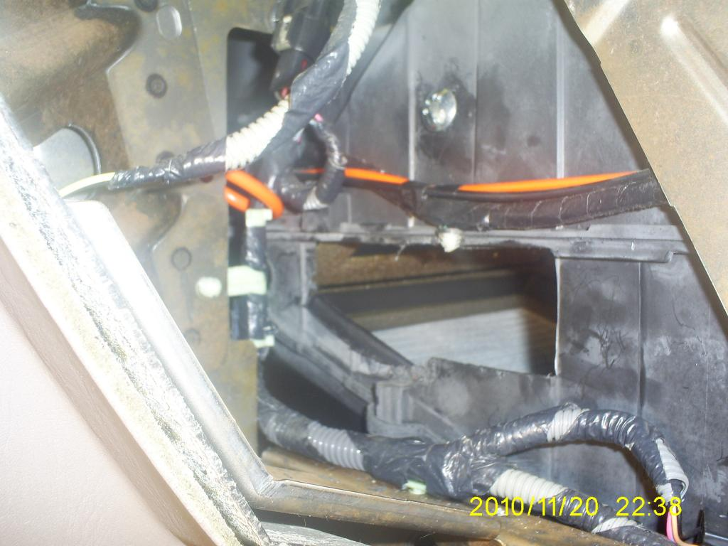 ... blend door cracked in the heater core box