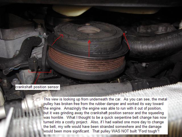 2004 Ford Explorer Crankshaft Pulley Failure  21