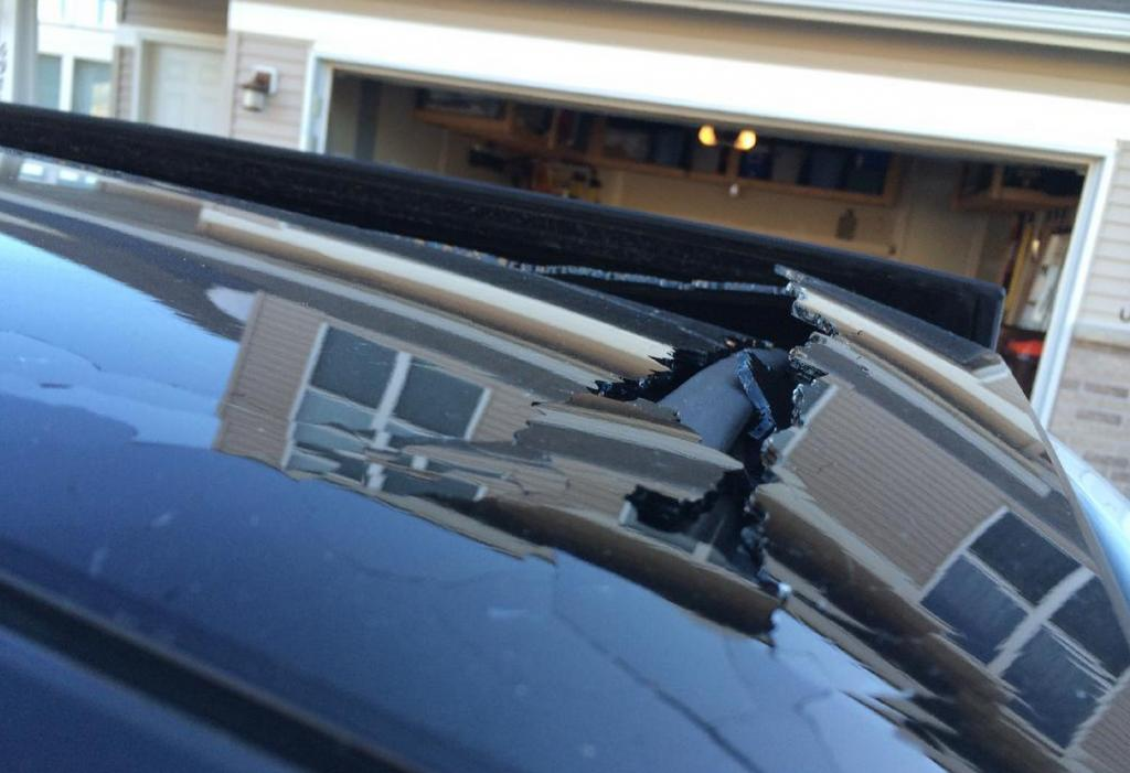 2010 Toyota Venza Sunroof Shattered 1 Complaints