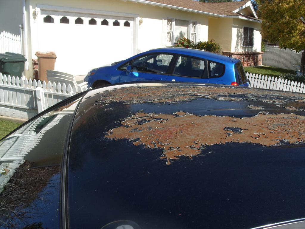 2006 roof paint peeling and rust issue toyota nation for Roofing forum
