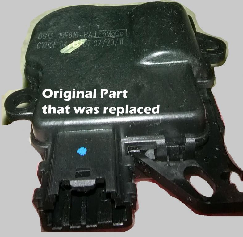 2008 Ford Taurus Blend Door Actuator Motor Clicking & Making