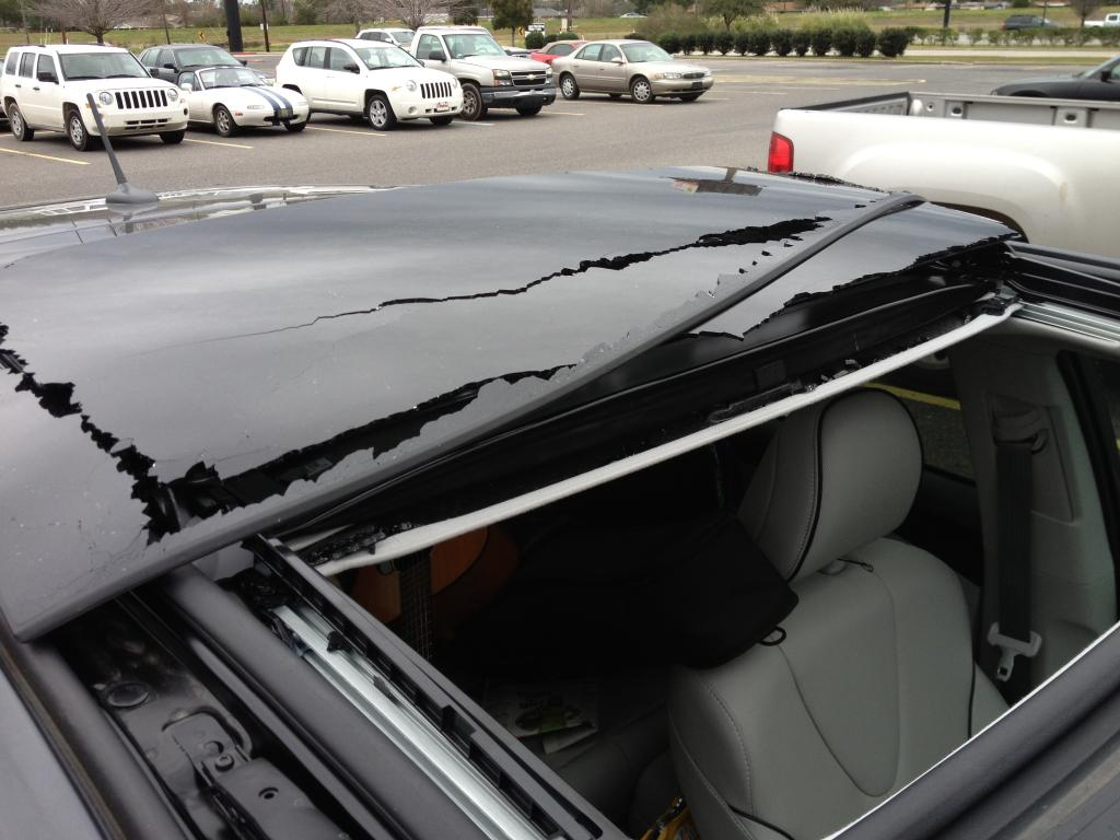 2013 Toyota Venza Moon Roof Sun Roof Imploded 1 Complaints