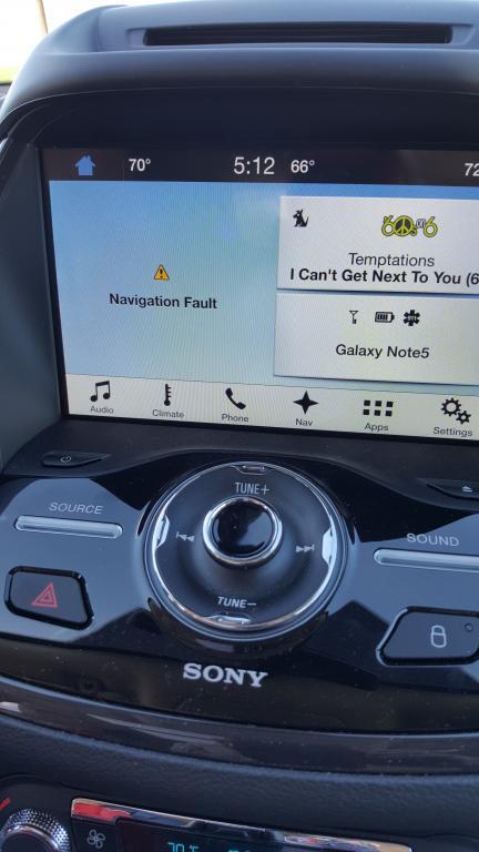 2016 Ford Escape Navigation Stops Working 1 Complaints
