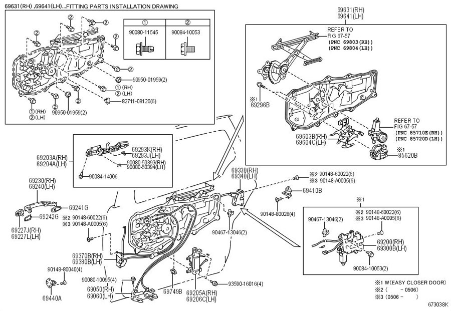 2004 Toyota Sienna Driver S Door Top Hinge Bushing Worn