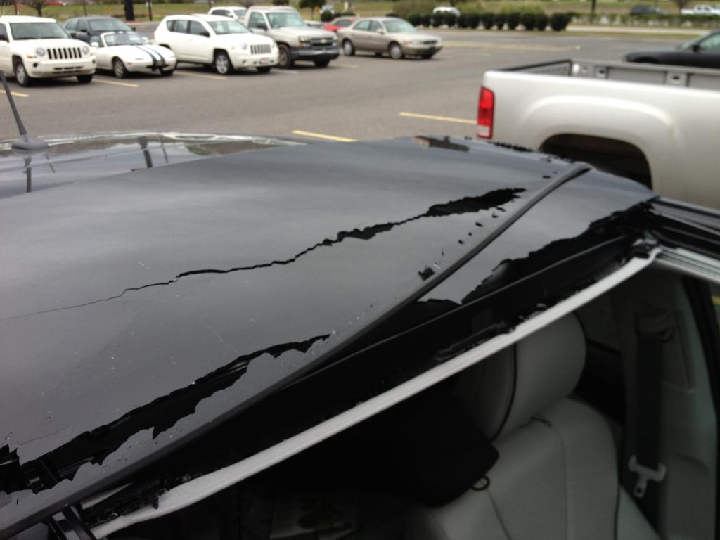 2013 Toyota Venza Moon Roof/Sun Roof Imploded: 1 Complaints