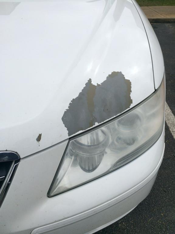 how to fix flaking paint on car