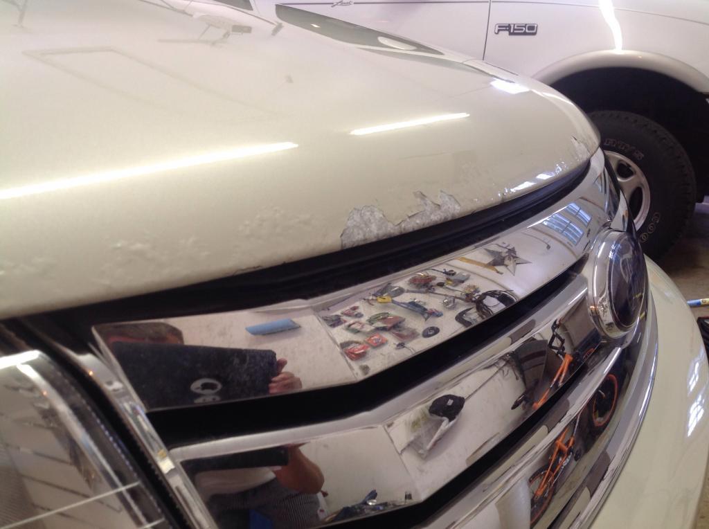 paint blistering ford taurus peeling 2008 body step