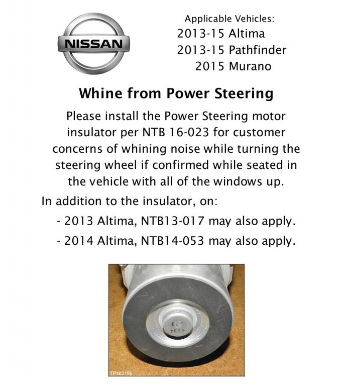 2014 Nissan Altima Power Steering Whining Noise 6 Complaints