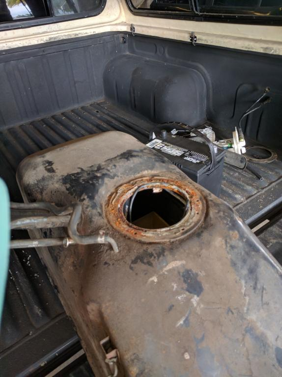 how to fix a rusty gas tank