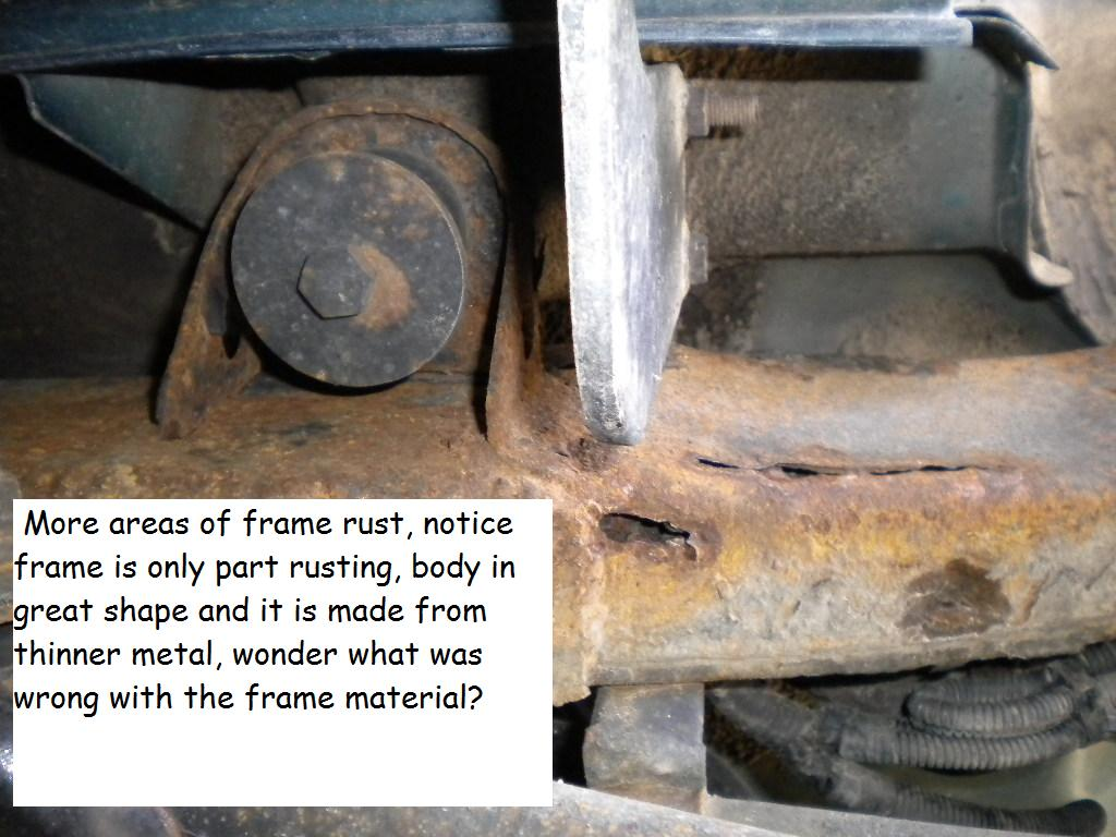 1999 Honda Passport Frame Rusted: 4 Complaints