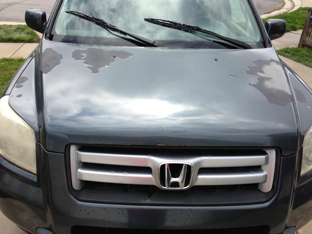 Honda Paint Recall >> 2006 Honda Pilot Paint Is Shot On The Hood, Clear Coat Is ...